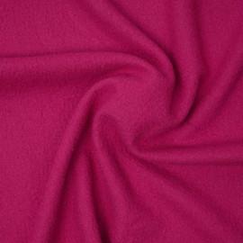 Tissu drap de laine bouillie  fuchsia   pretty mercerie   mercerie en ligne