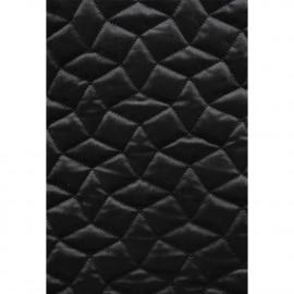 Tissu matelassé velours noir à motif graphique / pretty mercerie / mercerie en ligne