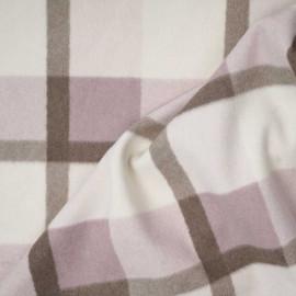Tissu drap manteau à carreaux lavande, blanc cassé et beige | Pretty mercerie | mercerie en ligne