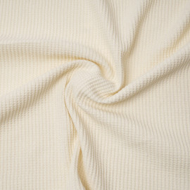 Tissu coton nid d'abeille écru | Pretty Mercerie | mercerie en ligne