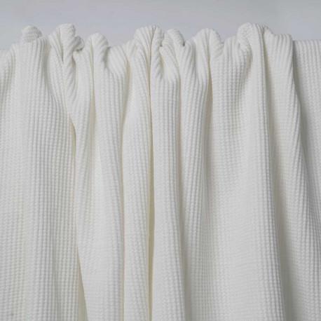 Tissu coton nid d'abeille blanc | Pretty Mercerie | mercerie en ligne