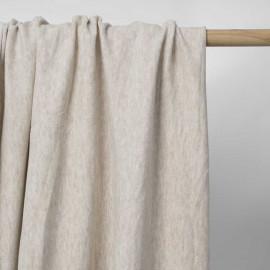 Tissu coton pilou-pilou beige chiné   Pretty Mercerie   mercerie en ligne
