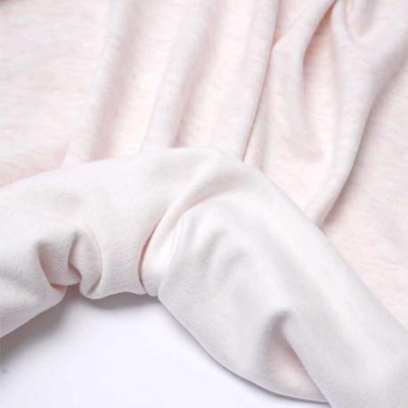 Tissu viscose pilou-pilou rose pastel chiné | Pretty Mercerie | mercerie en ligne