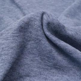 Tissu viscose pilou-pilou bleu chiné   Pretty Mercerie   mercerie en ligne