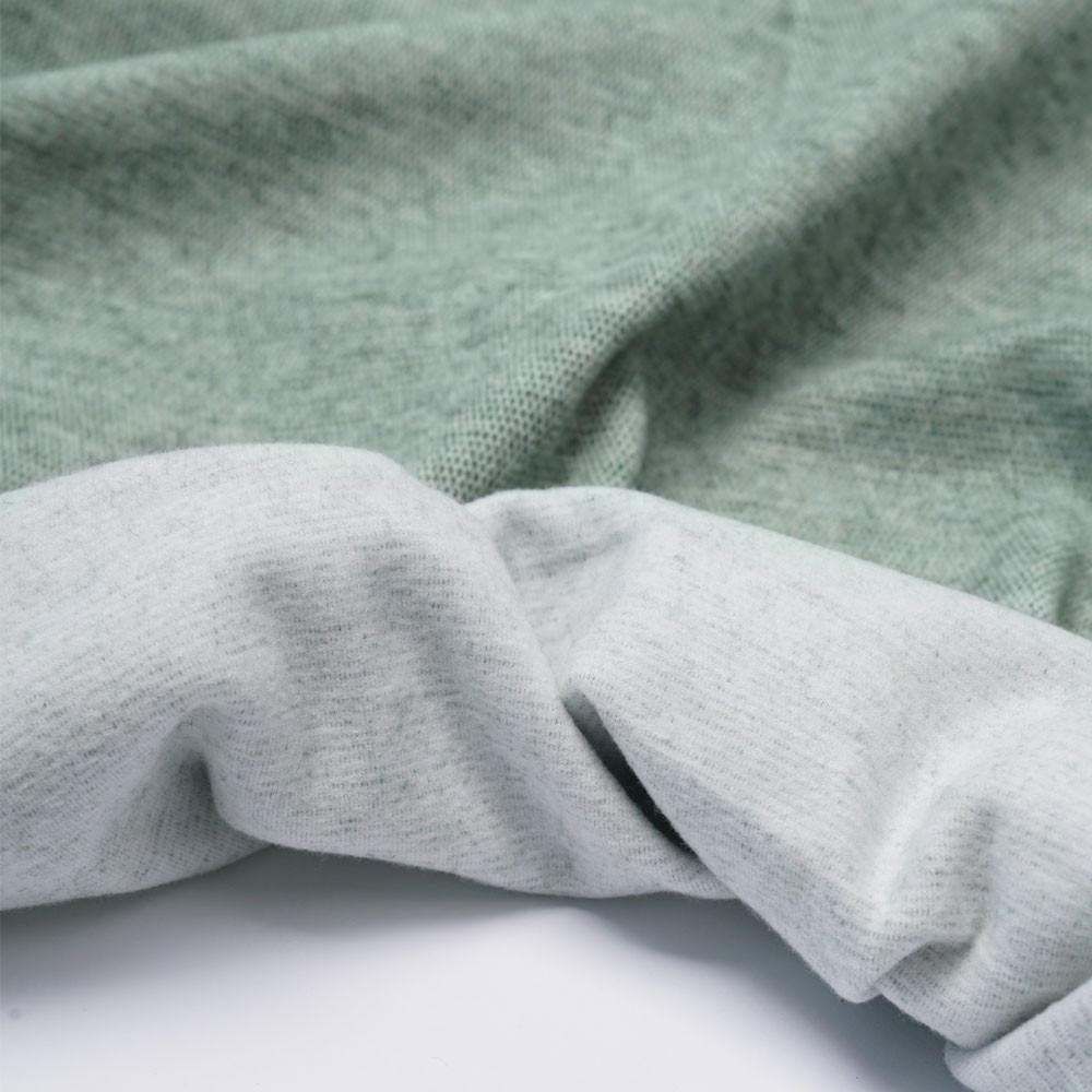 Tissu viscose pilou-pilou vert chiné   Pretty Mercerie   Mercerie en ligne