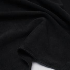 Tissu viscose pilou-pilou noir   Pretty Mercerie   mercerie en ligne