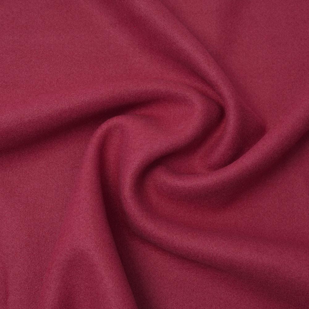 Tissu lainage rose cranberry   Pretty Mercerie   mercerie en ligne