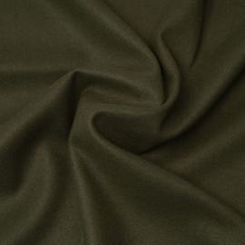 Tissu lainage vert kaki | Pretty Mercerie | mercerie en ligne