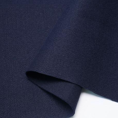 Tissu lainage bleu marine | Pretty Mercerie | mercerie en ligne