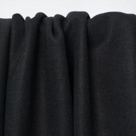 Tissu lainage noir | Pretty Mercerie | mercerie en ligne