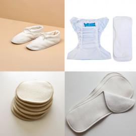 Tissu velours de bambou Oeko-Tex et de coton bio blanc | Pretty Mercerie | mercerie en ligne