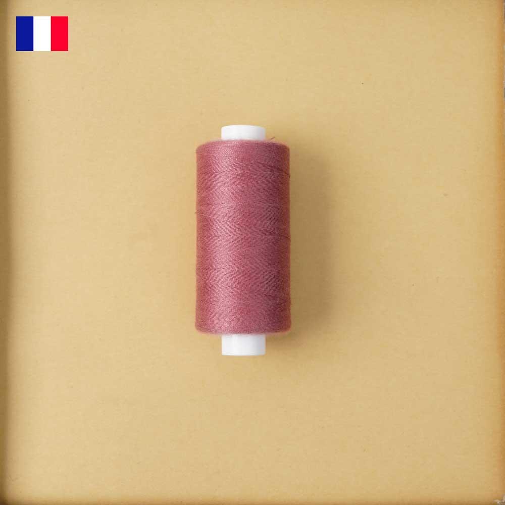 Fil à coudre rose garnet ténacité 500 m   fabrication française   Pretty Mercerie   mercerie en ligne