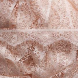 RUBAN DENTELLE ROSE CRÉMEUX x 1,45 M