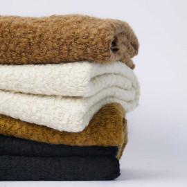 Tissu Tissu lainage maille bouclée cumin | pretty mercerie | mercerie en ligne