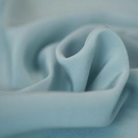 TISSU 100 % Soie Crêpe de Chine Glacier grey X 10 cm