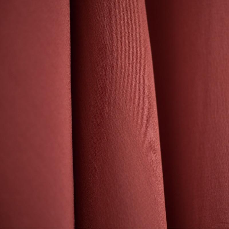 TISSU 100 % Soie Crêpe de Chine Marsala X 10 cm