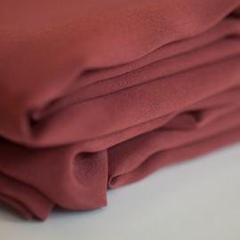 achat tissu 100 % soie crêpe de chine marsala  - pretty mercerie - mercerie en ligne