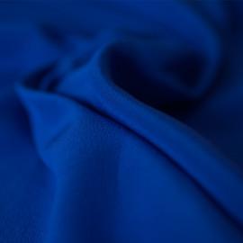 TISSU 100 % Soie Crêpe de Chine Dazling blue X 10 cm