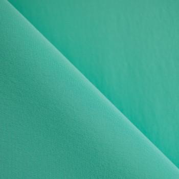 TISSU 100 % Soie Crêpe de Chine Lucite green X 10 cm