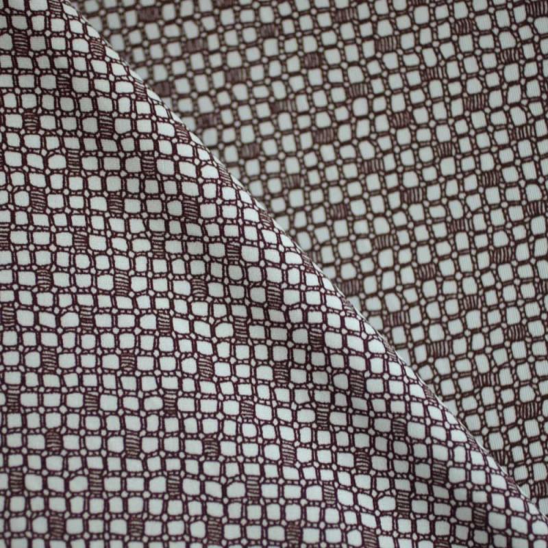 Tissu maillot de bain marron mercerie en ligne pretty - Tissu maillot de bain ...