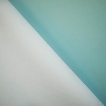 TISSU NEOPRENE ALVÉOLÉ DOUBLE FACE BLUE GLASS & BLANC X 10 CM