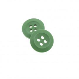Bouton Polyester Vert Asperge 15mm