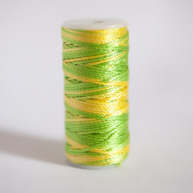 EMBROIDERY THREAD BRIGHT LIME GREEN & AURORA