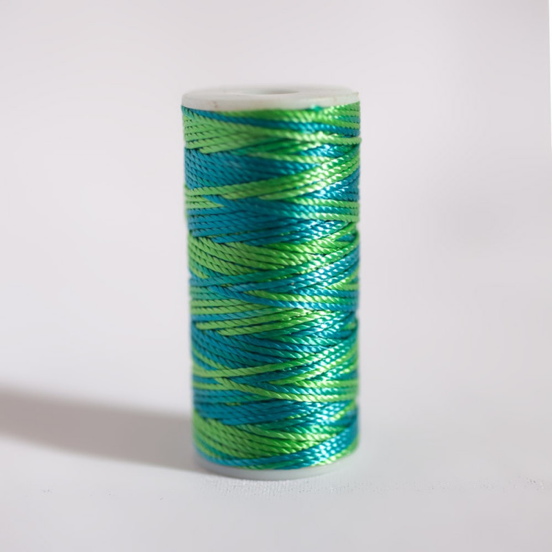 EMBROIDERY THREAD LIME PUNCH & HORIZON BLUE
