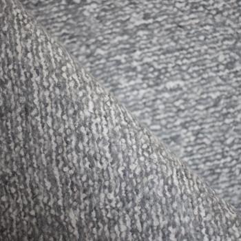 TISSU LAINAGE GRIS & CRÈME x 10cm