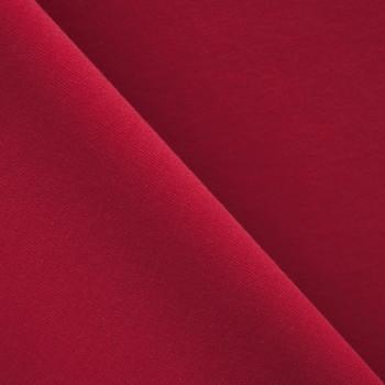 Tissu sweat rouge velours x 10cm