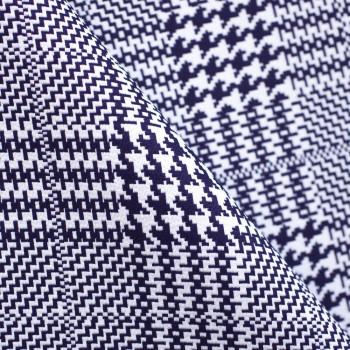 TISSU JACQUARD VICHY PIED-DE-POULE GRAPHIQUE X 10 CM