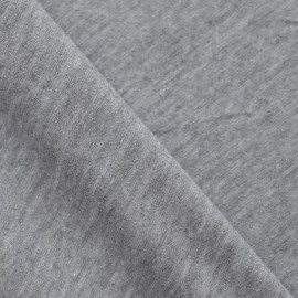 TISSU JERSEY BASIC GRIS CHINÉ x 10cm