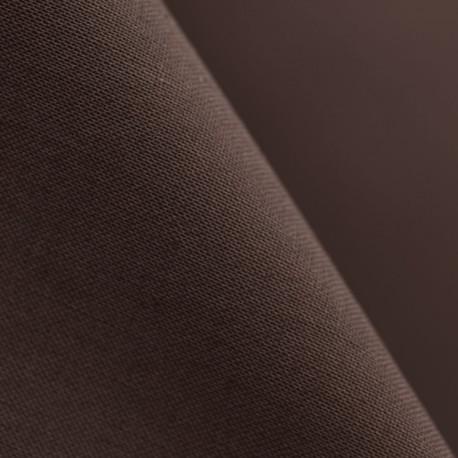 Doublure coton marron x 10cm
