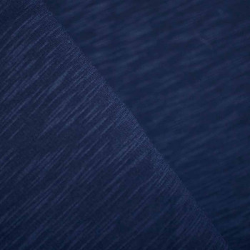 Tissu sweat Bleu chiné x 10cm