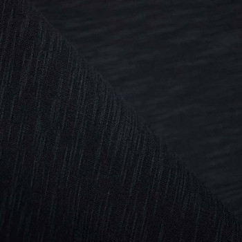Tissu sweat Noir chiné x 10cm