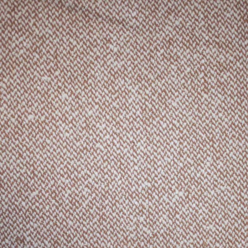 Tissu lainage Tricoté blanc cassé & doe x 10cm