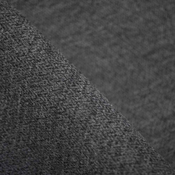 Tissu lainage ZigZag gris & Noir x 10cm