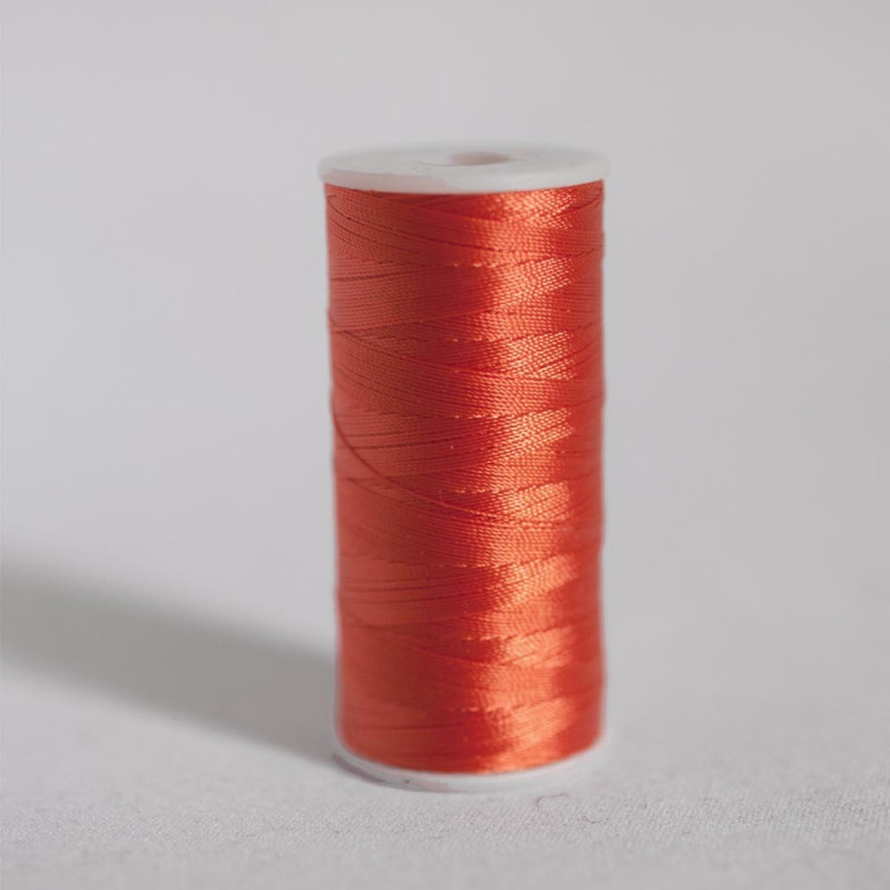 FIL POLYESTER RED ORANGE HAUTE RESISTANCE