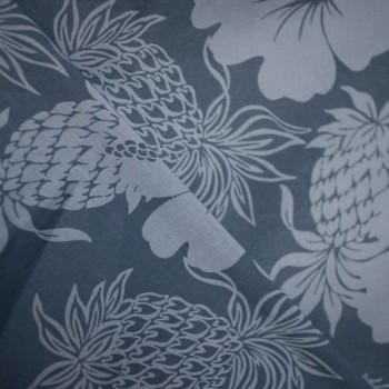 TISSU COTON IMPRIME FLOWER ANANAS x 10cm