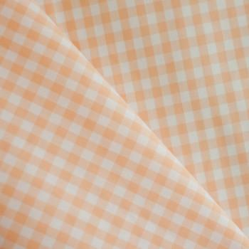 TISSU COTON IMPRIME VICHY BEACH SAND X 10cm