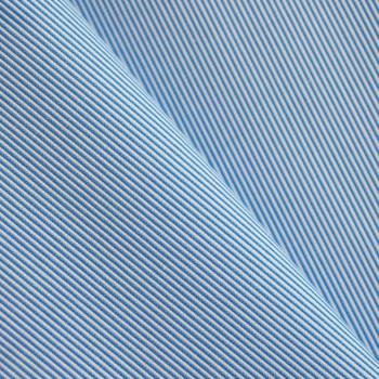 TISSU COTON FINE RAYURE BLEU MARINA X 10cm