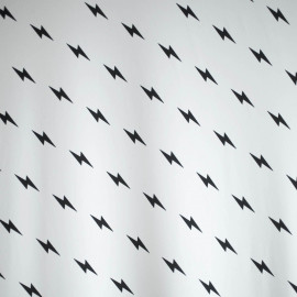 TISSU MAILLOT DE BAIN FLASH BLANC & NOIR  X 10 CM