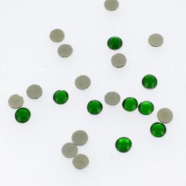 Strass rond vert émeraude