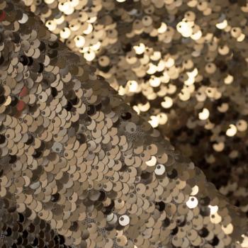 TISSU SEQUIN GOLD x 10cm
