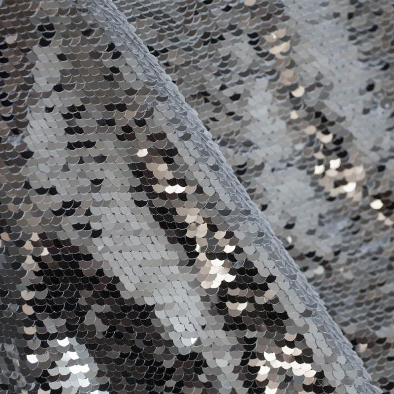 TISSU SEQUIN SILVER x 10cm