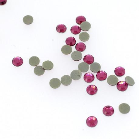 Strass rond rose pétunia