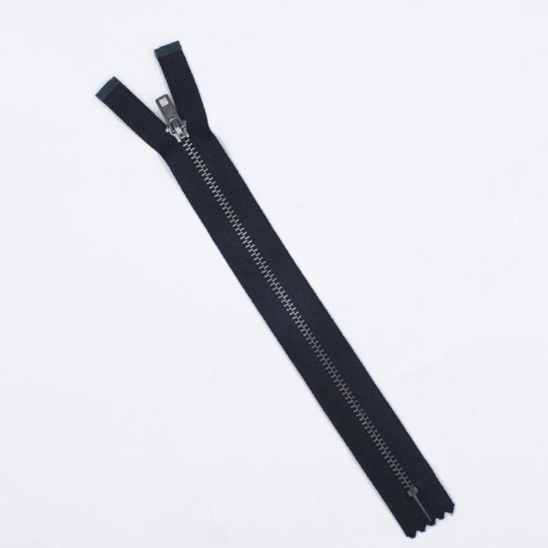 Fermeture éclair non-séparable noir & gun métal