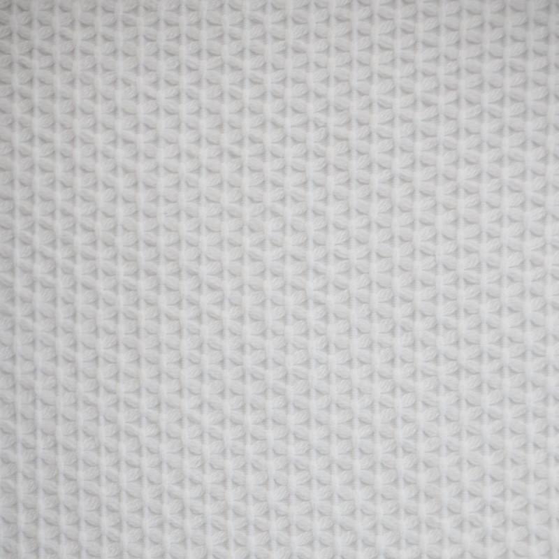 TISSU COTON BRODE BLANC  x 10 CM