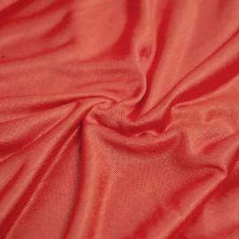 tissu bio modal orange camelia  X 10 CM