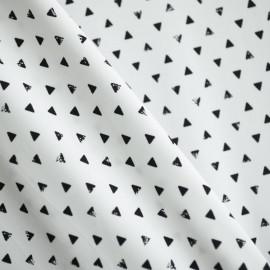 TISSU MAILLOT TRIANGLES BLANC & NOIR  - pretty mercerie - mercerie en ligne